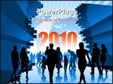 PowerPoint Template - People are going to the new better world.