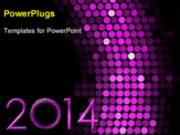 PowerPoint Template - New year 2014 background