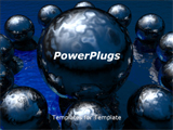 PowerPoint Template - 3d rendered spheres