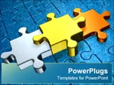 PowerPoint Template - Three puzzle pieces