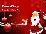 PowerPoint Template - Santa claus on his way on chirstmas