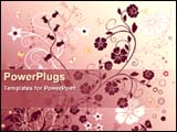 PowerPoint Template - abstract floral background