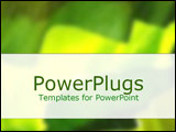 PowerPoint Template - Montage of green