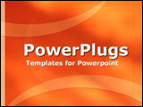 PowerPoint Template - Orange curves and ribbons