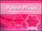 PowerPoint Template - Powerful pink with white band and floral stamp