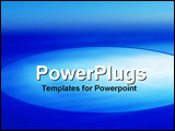 PowerPoint Template - Bright blue with space for text