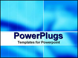 PowerPoint Template - White text panel on light blue background