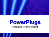 PowerPoint Template - Triple stripe on high-tech theme