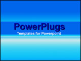 PowerPoint Template - Light blue with underplayed image of computer