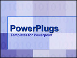 PowerPoint Template - Numeric values and checker patterns in tints and shades of blue