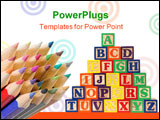 PowerPoint Template - ABC blocks A-Z