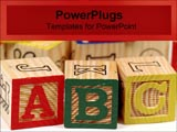 PowerPoint Template - ABC building blocks