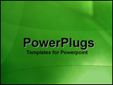 PowerPoint Template - Green swirls