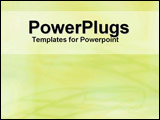 PowerPoint Template - White text panel on lime green background