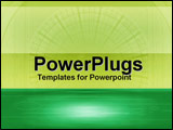 PowerPoint Template - Green with abstract imagery of clock