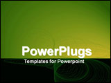 PowerPoint Template - Wire frame with black and green panels