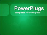 PowerPoint Template - Circular motion in green with rounded text panels