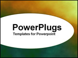 PowerPoint Template - Elliptical text panel on duotone background