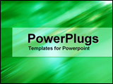 PowerPoint Template - Motion in green