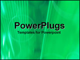 PowerPoint Template - Angular imagery in green