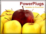 PowerPoint Template - a red apple with yellow apples