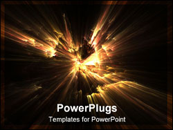 PowerPoint Template - fractal illustration of fire on black background