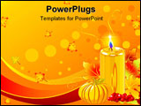 PowerPoint Template - Holiday candles background with pumpkins and candle