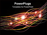 PowerPoint Template - Abstract digital illustraion resembling wires or fiber optics