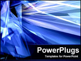 PowerPoint Template - Abstract of Crystalized Blue rays