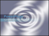 PowerPoint Template - Rendered 3d ripples as background