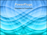 PowerPoint Template - Blue wave abstract