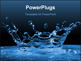 PowerPoint Template - Drop of water; water splash; Drop of liquid; liquid splash