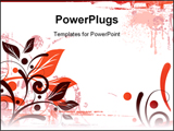 PowerPoint Template - Floral Background Design .