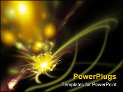 PowerPoint Template - An illustration of a nice abstract fractal space art