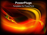 PowerPoint Template - Beautiful smooth abstract background. Digital generated this image