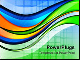 PowerPoint Template - Abstract background with smooth lines and waves.