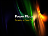 PowerPoint Template - Multicolor elegant flames on black: 3D rendered fractal.