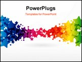 PowerPoint Template - Abstract Colorful Background. Vector. Illustration for your design.