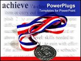 PowerPoint Template - a medal with an achievement theme