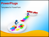 PowerPoint Template - Action plan, 3d image- Business concept .