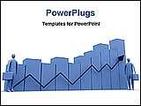 PowerPoint Template - a 3d graphics showing market growth