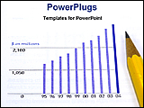 PowerPoint Template - marketing statistics with bar chart