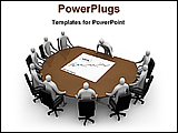 PowerPoint Template - board meeting is going on for marketing