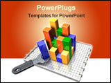 PowerPoint Template - 3d illustration of a simple wrench turning/adjusting the elements