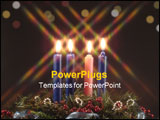 PowerPoint Template - advent candles. fourth candle lit represents the candle of love.