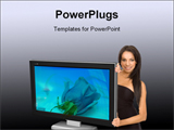 PowerPoint Template - Elegant girl advertising for lcd screen.