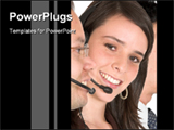 PowerPoint Template - Telecaller in call center