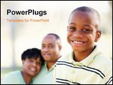 PowerPoint Template - Handsome African American Boy with Proud Parents Standing By in the Park.