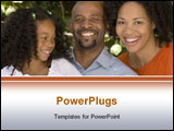 PowerPoint Template - African American Family enjoying the warmth of summertime.