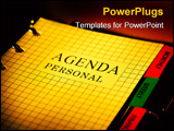 PowerPoint Template - photo of a day planner.
